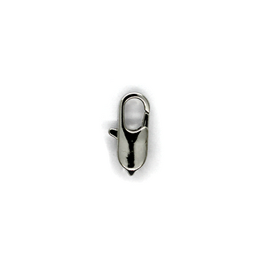 Clasp, Lobster Clasps, Silver, Alloy, 14mm x 6mm x 4mm, Sold Per pkg of 10