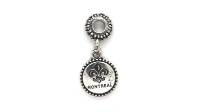 Pendants, Montreal Gear, Silver, Alloy, 35mm X 16mm,  Sold Per pkg of 1