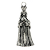 Pendants, Praying Princess, Silver, Alloy, 55mm x 23mm, Sold Per pkg of 1
