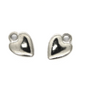 Charms, Narrow Heart, Silver, Alloy, 14mm X 10mm X 4mm, Sold Per pkg of 8