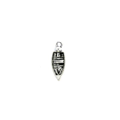 Charms, Motor Boat, Silver, Alloy, 22mm X 8mm, Sold Per pkg of 4