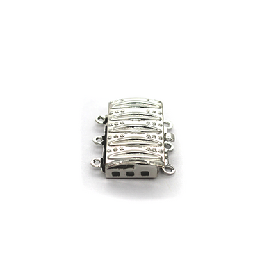 Clasp, Ornament Box Snap Clasp, Silver, Alloy, 18mm x 15mm,  Sold Per pkg of 1