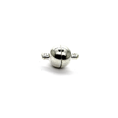 Clasp, Magnetic Clasp, Silver, Alloy, 15mm x 8mm,  Sold Per pkg of 2