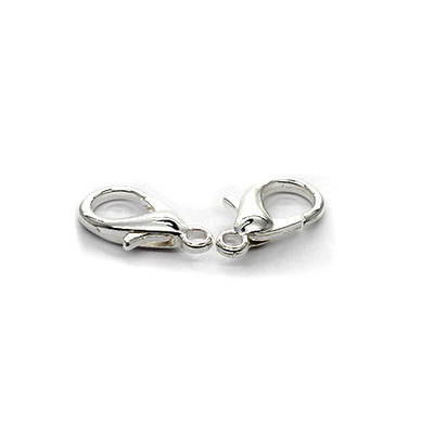 Clasp, Lobster Clasps, Silver, Alloy, 18mm x 9mm x 4mm, 8pcs