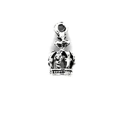 Charms,Medieval Crown, Silver, 20mm X 10mm, Sold Per pkg of 3
