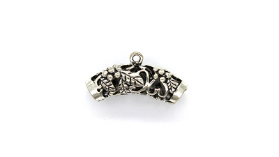 Pendants, The Garden Clasp, Silver, Alloy, 12mm x 26mm X 8mm, Sold Per pkg of 2