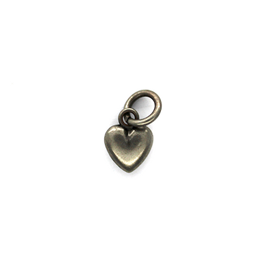 Charms, Heart Gradient, Rhodium, Alloy, 11mm X 8mm X 3mm, Sold Per pkg of 15