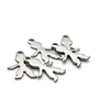 Charms, Faceless Boy, Silver, Stainless Steel, 16mm X 11mm Sold Per pkg of 6