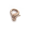 Clasp, Lobster Clasps, Bright Copper, Alloy, 32mm x 16mm, Sold Per pkg of 1