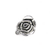 Charms, Rose, Silver, Alloy, 13mm X 13mm X 3mm, Sold Per pkg of 5