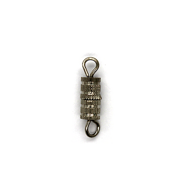 Clasp, Screw Clasp, Alloy, Silver, 15mm x 4mm x 4mm, Sold Per pkg of 6