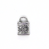 Charms, Small Padlock, Silver, Alloy, 12mm X 7mm, Sold Per pkg of 10