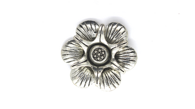 Pendants, Popped Layered Flower, Silver, Alloy, 41mm X 41mm X 12mm, Sold Per pkg of 1