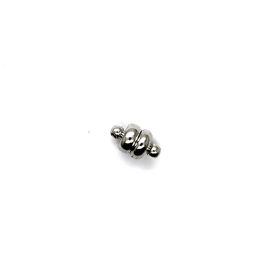Clasp, Magnetic Ball Clasp, Alloy, Silver, 12mm x 8mm, Sold Per pkg of 1