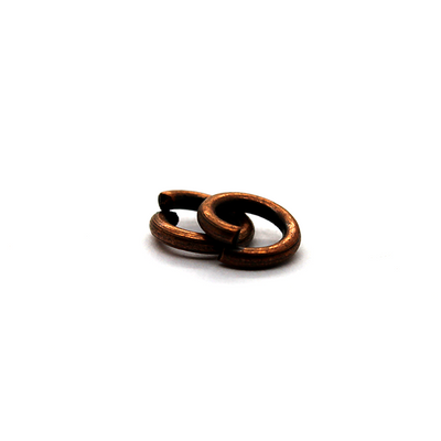 Jump Rings, Copper Alloy, Round, 8mm, 14 Gauge, 28 pcs