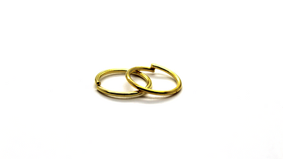 Jump Rings, Gold, Alloy, Round, 14mm, 16 Gauge