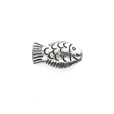 Charms, Traditional BoneFish, Silver, Alloy, 17mm X 9mm X 5mm, Sold Per pkg of 5