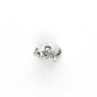 Charms, Mother & Baby Fox, Silver, Alloy, 19mm X 14mm X 8mm, Sold Per pkg of 1