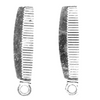 Charms, Comb, Silver, Alloy, 26mm X 7mm, Sold Per pkg of 5