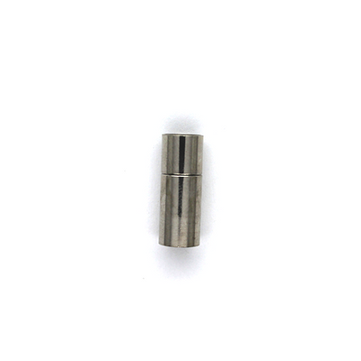 Clasp, Slide Snap Tube Clasp, Silver, Alloy (Nickel Free), 19mm x 7mm x 7mm, Sold Per pkg of 1