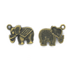 Charms, War Elephant, Bronze, Alloy, 14mm X 17mm, Sold Per pkg of 5