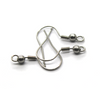 Earrings, Silver, Stainless Steel, Shepherd Hook with Ball, 20mm x 11mm, sold per pkg of 28
