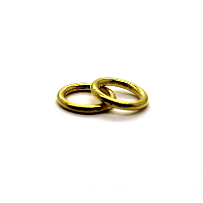 Closed Rings, Gold, Alloy, Round, 9mm, 17 Gauge
