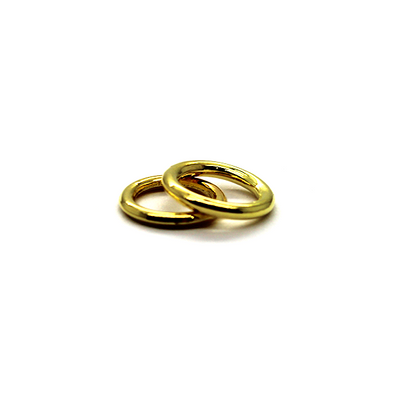 Closed Rings, Gold, Alloy, Round, 10mm, 16 Gauge