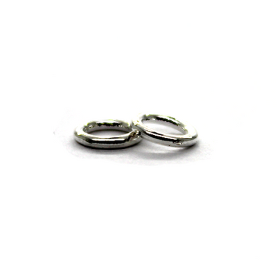 Closed Rings, Silver, Alloy, Round, 12mm, 15 Gauge