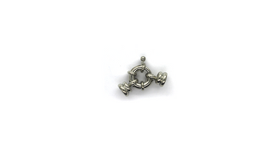 Clasp, Round Tube Clasp, Silver, Alloy (Nickel Free), 19mm x 11mm x 7mm, Sold Per pkg of 1