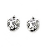 Charms, Tiger Head, Silver, Alloy, 15mm X 13m, Sold Per pkg of 4