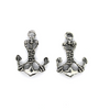 Charms, Roped Anchor, Silver, Alloy, 24mm X 17mm X 3mm, Sold Per pkg of 5