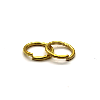 Jump Rings, Gold, Alloy, Round, 10mm, 15 Gauge, 40+ pcs