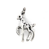 Charms, Walking Deer, Silver, Alloy, 22mm X 13mm X 5mm, Sold Per pkg of 4