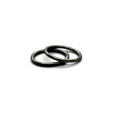 Closed Rings, Grey, Alloy, Round, 14mm, 16 Gauge, sold per pack 36