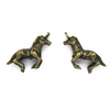 Charms, Race Horse, Bronze, Alloy, 16mm X 24mm, Sold Per pkg of 3