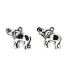 Charms, Big Ear Elephant, Silver, Alloy, 24mm X 20mm, Sold Per pkg of 4