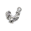 Charms, Rooster, Silver, Alloy, 22mm X 16mm, Sold Per pkg of 5