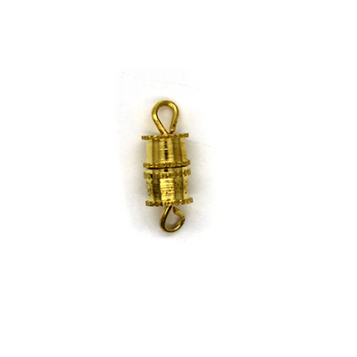 Clasp, Screw Clasp, Alloy, Gold, 7mm x 5mm x 5mm, Sold Per pkg of 8