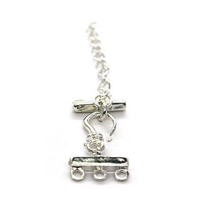 Clasp, Lobster Chain Clasp, Silver, Alloy, 60mm x 14mm, Sold Per pkg of 1