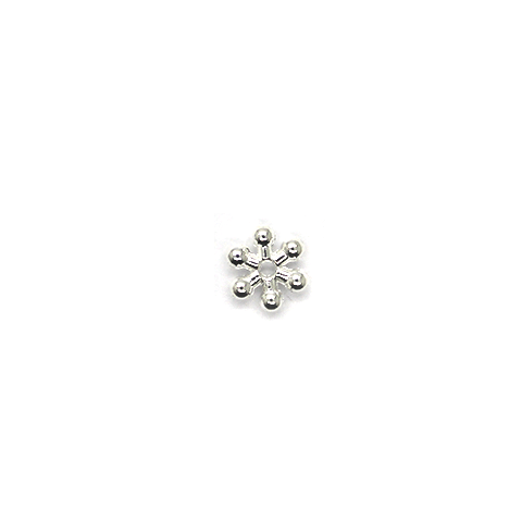Spacers, Snowflake Spacer, Alloy, Silver, 7mm X 7mm, Sold Per pkg of 25