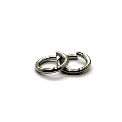 Jump Rings, Silver, Rhodium, Round, 10mm, 16 Gauge, 34 pcs