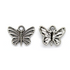 Charms, Lined Butterfly, Silver, Alloy, 12mm X 16mm X 2mm, Sold Per pkg of 8