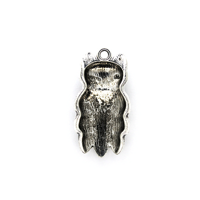 Charms, Horned Owl, Silver, Alloy, 30mm X 15mm X 7mm, Sold Per pkg of 2