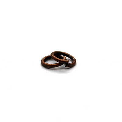 Jump Rings, Copper Alloy, Round, 6mm, 21 Gauge, 115 sold per bag