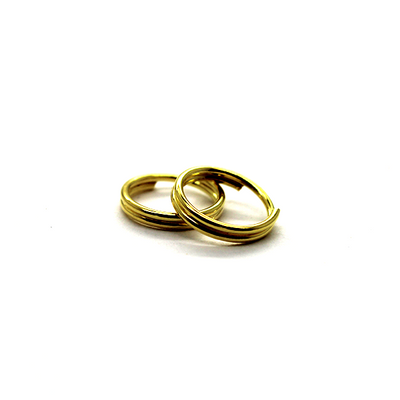 Split Rings, Gold, Alloy, Round, 8mm, 21 Gauge