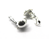 Earrings, Silver, Alloy (Nickel Free), Ear Clips for Non-Pierced Ears, 25mm x 12mm, sold per pkg of 2