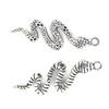 Charms, Bezzled Snake, Alloy, 41mm X 19mm X 4mm, Sold Per pkg of 2