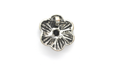 Pendants, Multi Beaded Flower, Silver, Alloy, 37mm x 37mm, Sold Per pkg of 1