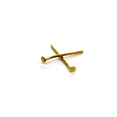 Flat Head Pins, Gold, Alloy, 0.63inch, 20 Gauge